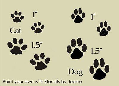 Stencil Cat Dog Paw Prints Pet Tracks Sbook Puppy Kitty Kennel Signs U Paint