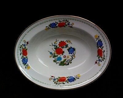 Exquisite Aynsley FAMILLE ROSE Oval Vegetable Bowl - Pristine - FREE SHIPPING