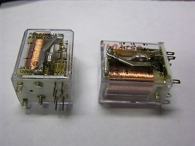 2 Potter & Brumfield R10-E1Y2-J1.0K  2 Pole Panel Plug-In Relay 8.5mADC Coil