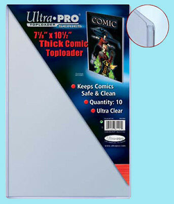 "10 Ultra Pro THICK COMIC BOOK TOPLOADERS NEW 7-1/8""x10-1/2"" Protector Storage"
