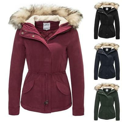 NEU Only Damen Winterjacke Parka Winterparka Wintermantel Jacket Coat - 8 Farben