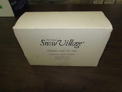 Department 56 Snow Village Bringing Home the Tree with original box