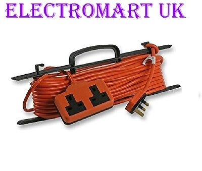 Orange Heavy Duty Outdoor Garden Electrical 13A 13 Amp Extension Lead Cable 15M