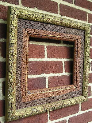 Antique Aesthetic Eastlake Victorian Floral Textured Detail Picture Frame 8~10