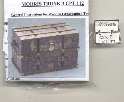Lithograph Wooden Trunk Kit Western dollhouse miniature 1//12 scale CPT113 USA