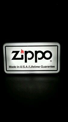 Vintage Zippo Advertising Light 20 inches x 12 inches 1960's