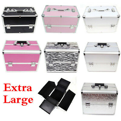 Extra Large Space Storage Make Up Beauty Box Cosmetic Nail Jewelry Vanity Case