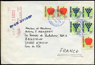 Chile 1990 Cover To France #C26783
