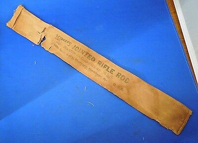 """Vintage Marbles Jointed Rifle Rod Canvas Sleeve- No. 9828 .28 Caliber and Up 36"""""""