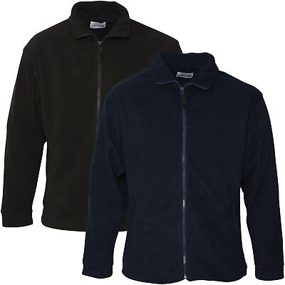 Mens Full Zip Up Fleece Jacket Work Casual Leisure Coat Sports Top Sizes S-2XL