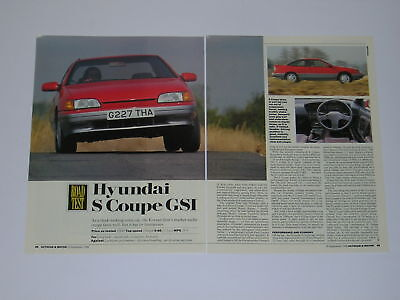 Hyundai S Coupe GSI Road Test from 1990 - Original