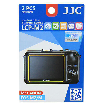 JJC 2x LCD Screen Protector Guard for Canon EOS M EOS M2 Digital Camera