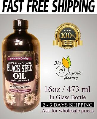 16 oz Organic 100% Pure Black Seed Oil Cold Pressed Cumin Nigella Sativa