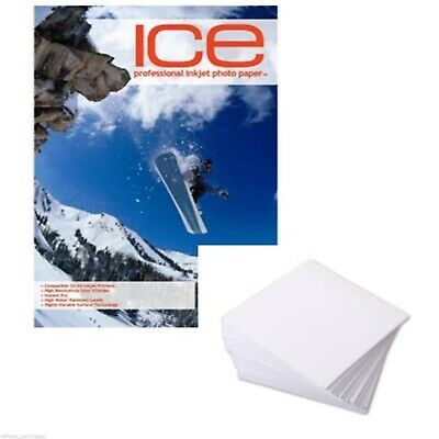 ICE GLOSS /GLOSSY COATED 7x5 INKJET PRINTER PHOTO PAPER 210GSM 50 SHEETS 5760DPI