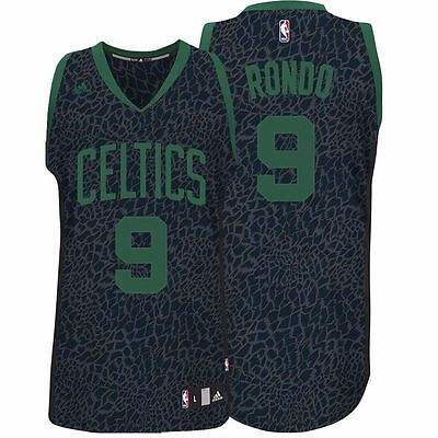 NBA Boston Celtics Rondo Basketball 'Crazy Lights' Swingman Jersey Shirt