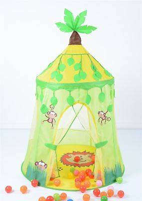 Jungle Fun Pop-Up Indoor Outdoor Play Tent For Kids Childrens Upto 3Years+