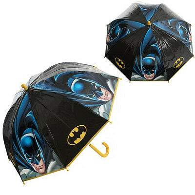 Official Batman Boys Umbrella Kids School Bubble Panel Brolly Gift Dome New