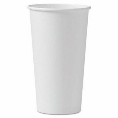 Solo Cup Company Polycoated Hot Paper Cups, 20 oz, White, 600/Carton