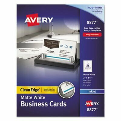 business cards ivory matte 2 x 3 5 10 sheets 10 cards per sheet