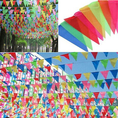 Auoh 8M Long Giant Flag Bunting Garland Pennant Garden Party Fete Pub Decoration