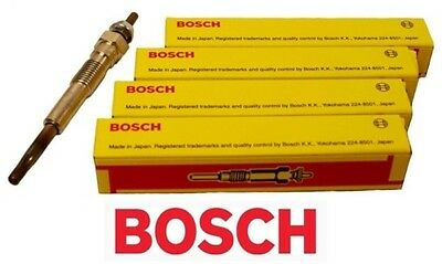 BOSCH 4 X Glow Plugs Ford Courier PG PH 2.5L WL WLT DIESEL ENGINE 1999-2006