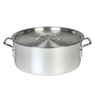 Thunder Group 12 Qt Aluminum Brazier Pot & Lid Mirror Finish ALSKBP002 POT & LID