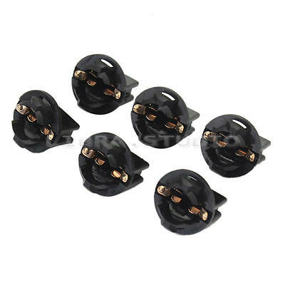 6pcs Car Accessories Cluster Plug T10 Instrument Panel Dashboard Light Socket