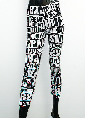 top lagenlook leggings leggin schwarz wei zahlen print viskose gr 40 42 eur 19 90 picclick de. Black Bedroom Furniture Sets. Home Design Ideas