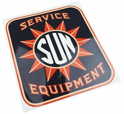 Sun Electric Service Equipment Tune Up Machine Cabinet Logo Decal Testing 1950's