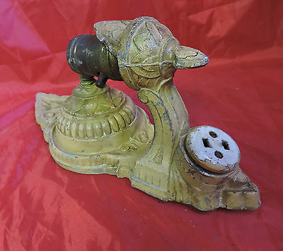 ANTIQUE Victorian Nouveau Deco Wall Electric Candle WALL light Sconce 11""