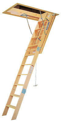 Werner 10-Foot Wood Attic Ladder - Heavy Duty - Model WH3010