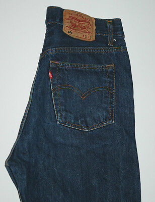 Vintage Made in USA Levis 501 Jeans Straight Leg Indigo Blue High Rise W29 L31