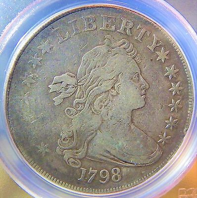 1798 Draped Bust Silver Dollar PCGS VF Details $1 Nicer Example