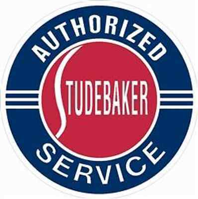 "Steel Large 25.5"" Authorized Studebaker Service Sign-US items ships from US"