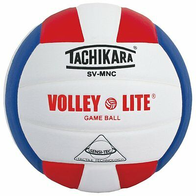 Tachikara SVMNC Sensi-Tec Volley-Lite Training Volleyball in Red, White & Royal