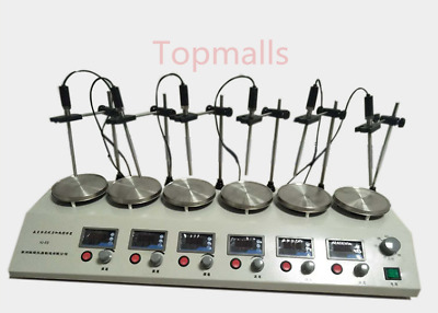 6 Heads Multi unit units Digital Thermostatic Magnetic Stirrer Hotplate mixer