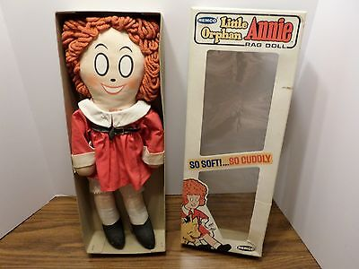 Vintage Little Orphan Annie Cloth Doll by Remco 15 inch 1967 # 3206