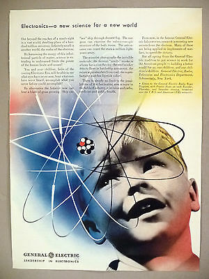 General Electric PRINT AD - 1942 ~ The Realm of the Electron ~ Electronics
