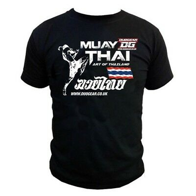 BLACK T-SHIRT UNISEX MIXED SIZE AVAILABLE MUAY THAI BOXING 'ART' (Kids - Adults)