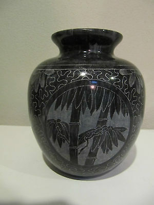 Antique Stunning carved/etched Marble Chinese Vase ?SEASONS ?age HEAVY