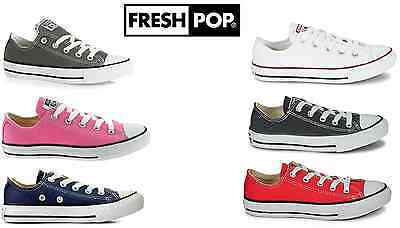 97b098aea4e5 Original New Kids Youths Converse All Star Ox Unisex Lo Top Shoes UK size 10