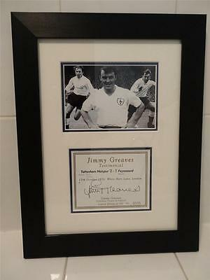 Genuine Limited Edition Handsigned Jimmy Greaves (Former Footballer) Framed