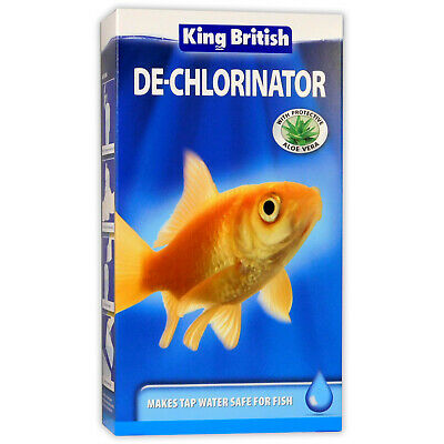 KING BRITISH DE-CHLORINATOR 250ml FISH TANK TAP COLD WATER AQUARIUM SAFE GUARD