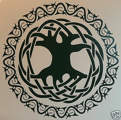 "LARGE CELTIC ""TREE OF LIFE"" Sticker  Occult/witchcraft/Spiritualist/Pagan"