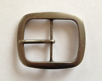 "Belt Buckle -  Centre Bar Antique Silver Style Buckle To Suit 1.5"" Snap On Belt"