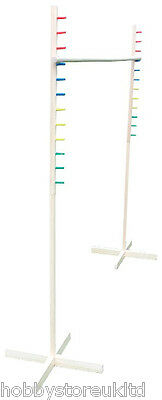 1.7m Wooden Limbo Set Pole Bar Kids Adults Family Garden Party Fun Large Game