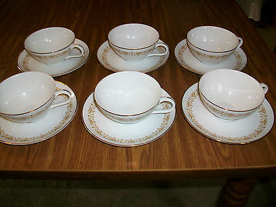 Lot of 5 Sheffield Imperial Gold  Fine China Cups and Saucer Sets Cup Saucers *