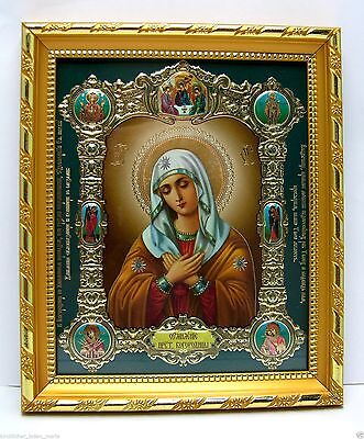"""Icon of the Mother of God of Tenderness икона Богородица Умиление  8.3x7.1x0.6"""""""