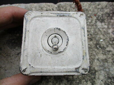 """Vintage Industrial Light Switch Cast Iron Grey Factory Antique Deco Britmac"""" Old"""