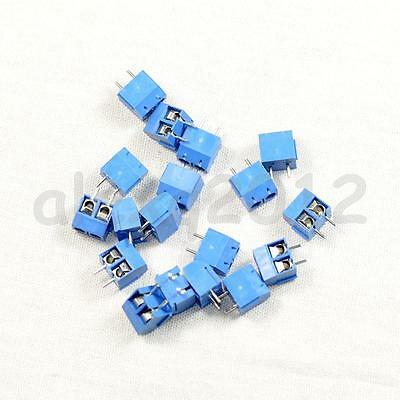 20pcs 2 Pin Plug-in Screw Terminal Block Connector Can be combined 5.08mm Pitch